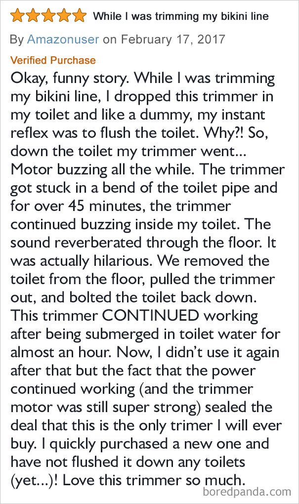 Trimmers And Toilet Talk