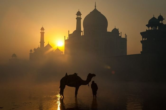 Sunrise Behind The Taj Mahal, John O., Cities