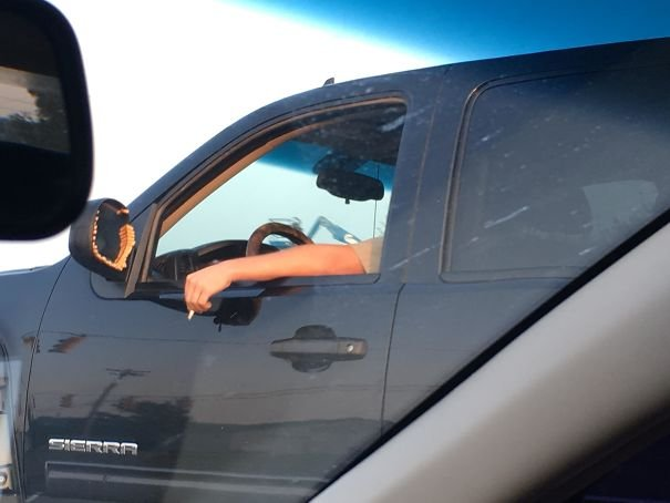 Smoker Puts Butts Around His Mirror Instead Of Littering