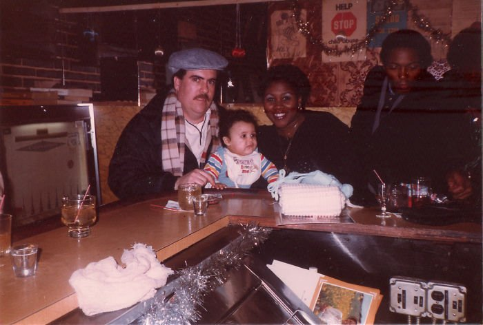 Infant Me, My Mother & Father At A Bar Because That