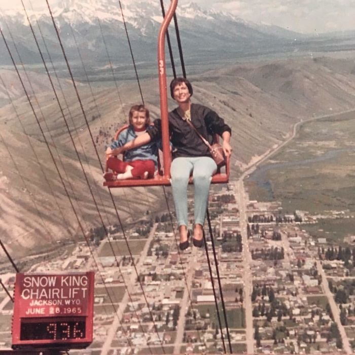 My Mother And Grandmother Demonstrating Safety Standards In The 1960s