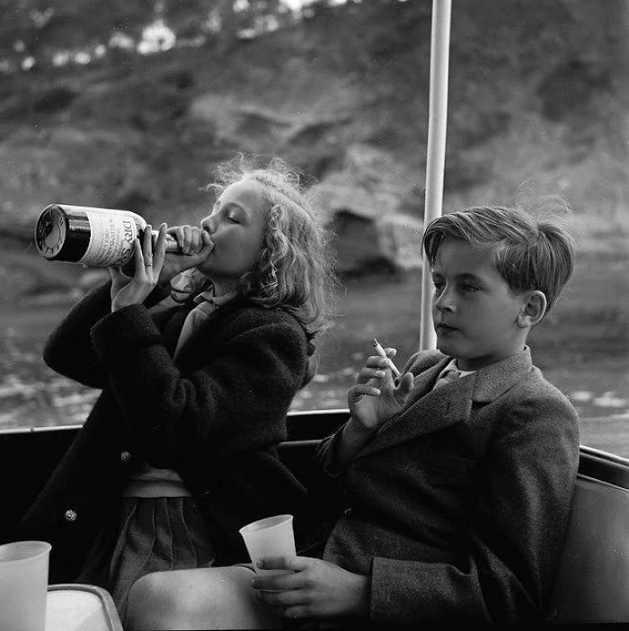 Princess Yvonne And Prince Alexander In Germany, 1955