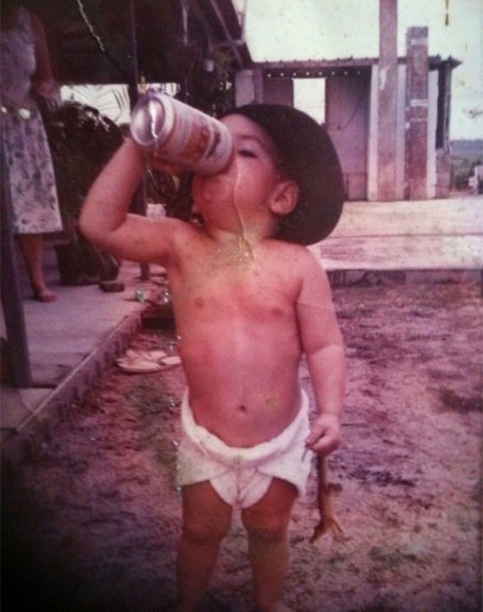 Me Back In 1991 Just Your Typical Aussie Kid Drinking Xxxxlight Beer(I Wasn