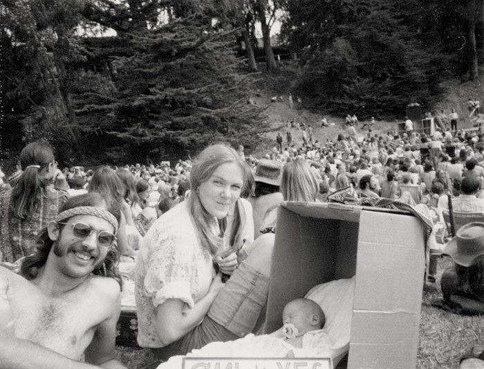 California Marijuana Initiative Rally 1972. That's Me In The Box And My Parents In The Picture