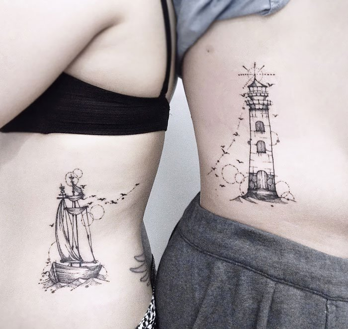 A Lighthouse For Him To Guard Her Way, And A Travelling Little Ship For Her To Sail