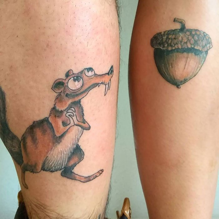Ice Age Couple Tattoos