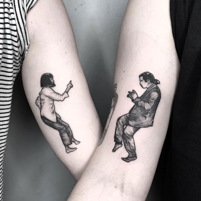 Matching Pulp Fiction Tattoos