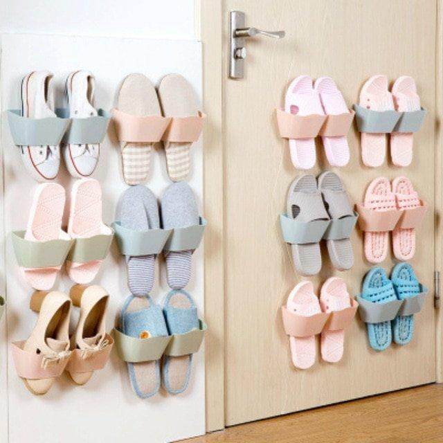 Resultado de imagen de estantería de zapatos perchas