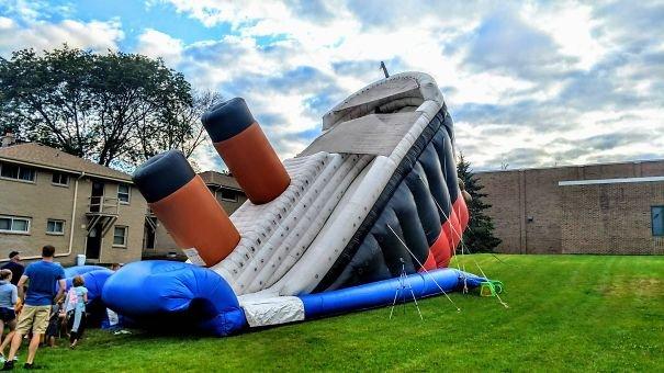 This Titanic Blow Up Slide