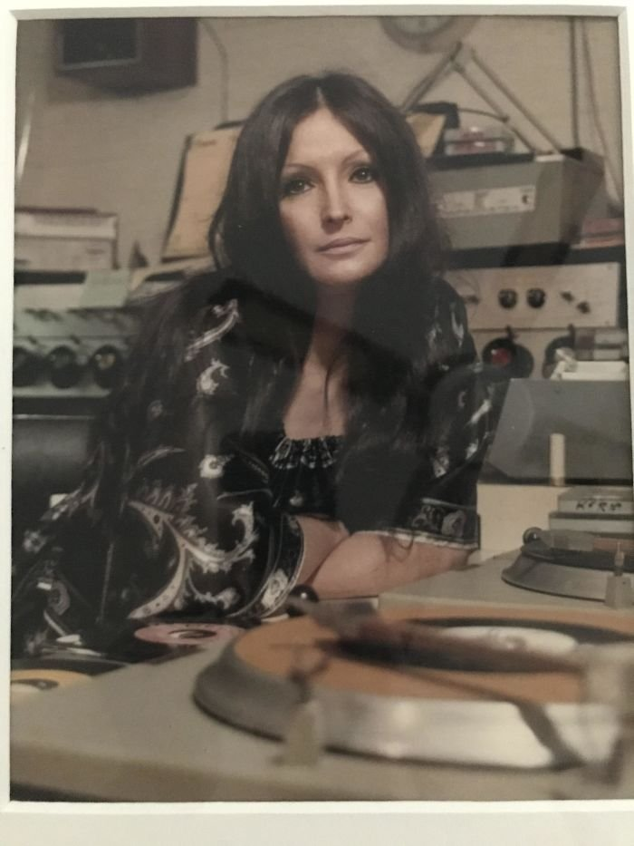 Mom Spinning Records At Kwkh, Shreveport - 1977