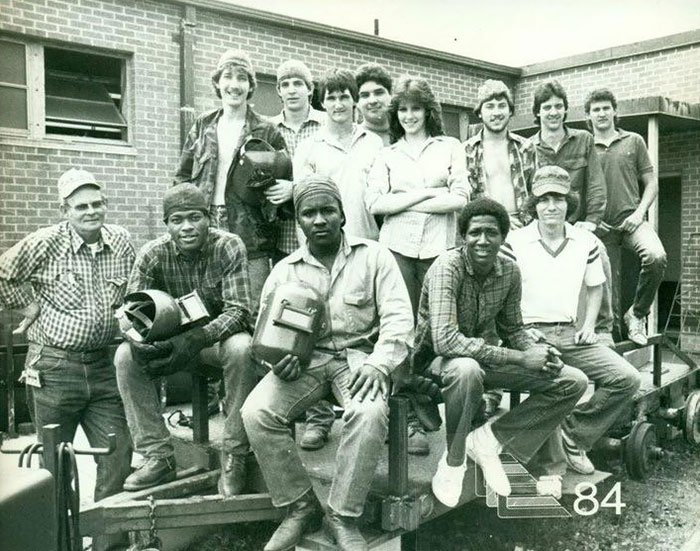 My Favorite Picture Of My Mom. She Was The Only Girl In Her Welding Class In 1984. Byrd High School, Shreveport, Louisiana