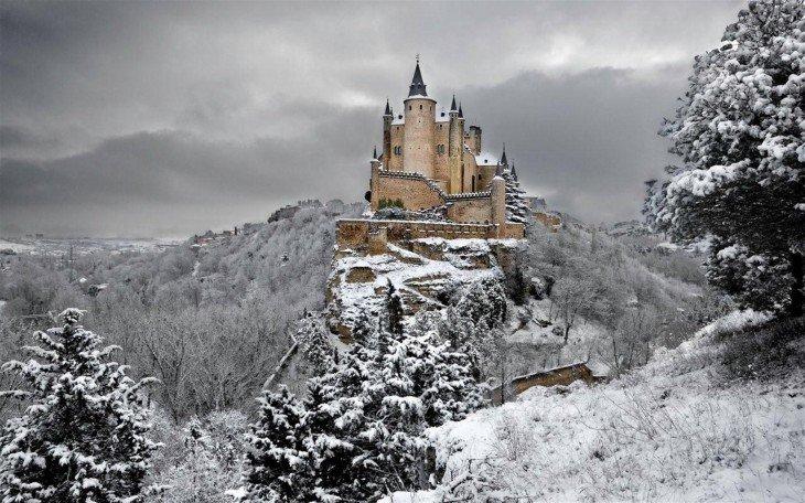 Castillo de Segovia en España