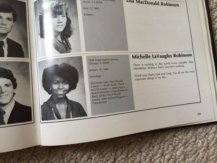 Found Michelle Obama In My Uncles Yearbook