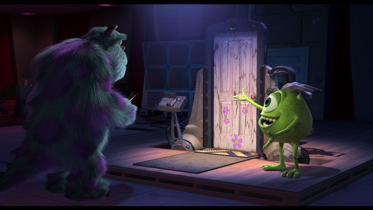Escena final de la película de Monsters Inc