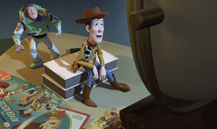 Escena de la película Toy Story 2 con Buzz Lightyear y Woody