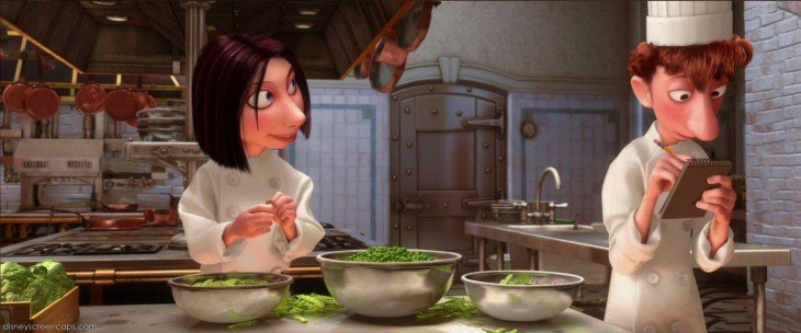 Escena de la película Ratatouille