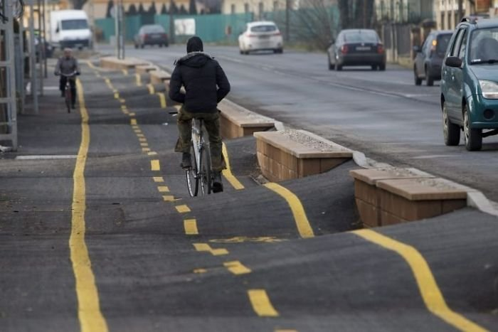 This Bicycle Path In Hungary