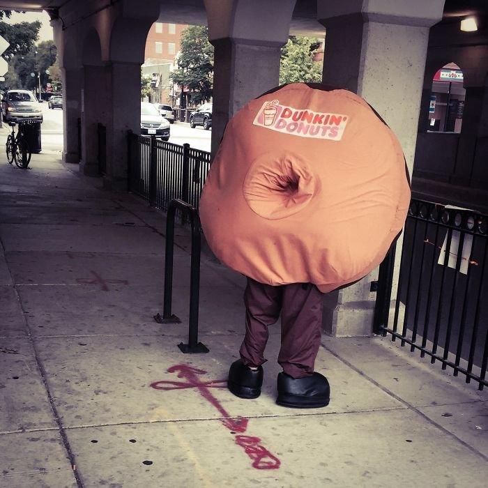 The Backside Of This Donut Costume