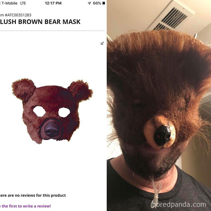 The Bear Mask My Friend Ordered Vs The Nightmare Fuel He Received