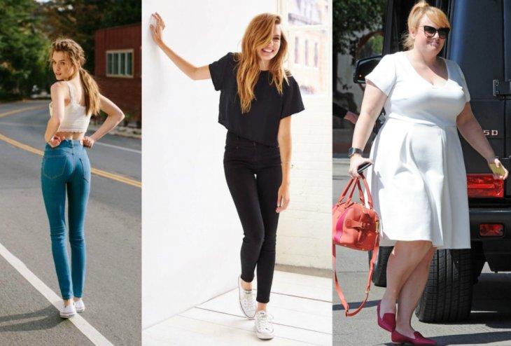 mujeres jeans apretados playera negra mujer rubia vestido blanco