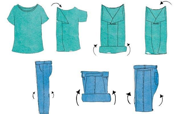 Resultado de imagen de doblar ropa