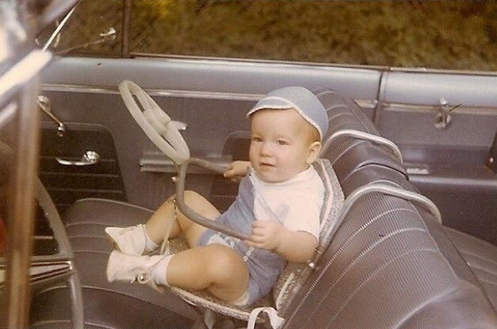Back In The Day. 1950s To Be Exact. Checkout That Car Seat