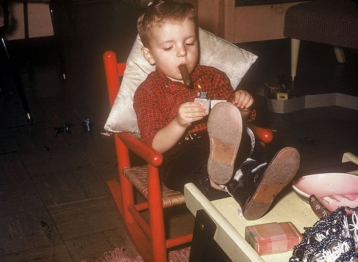 Me, 1958, Relaxing After My Bath With Toby, I Was Never Again This Cool