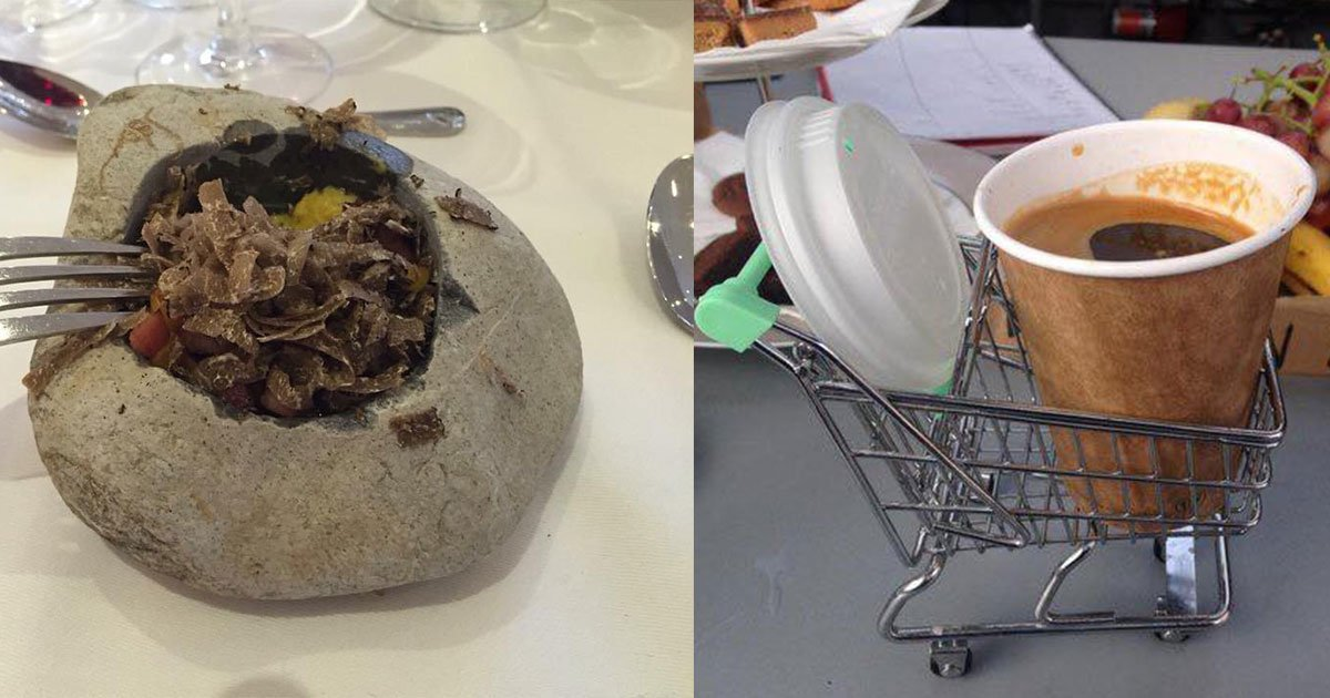 15 times people were served their food in weird plates and jars it is hilarious.jpg?resize=412,232 - Ces restaurants essaient d'impressionner leurs clients avec une carte inhabituelle