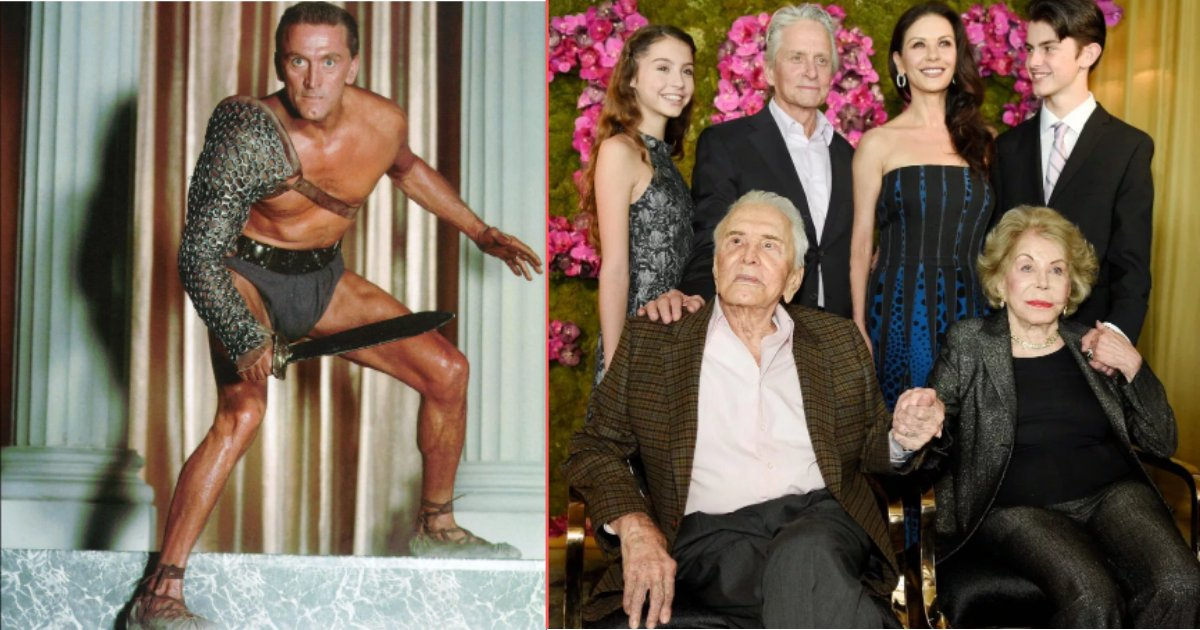 21 y4.png?resize=412,232 - 102 Year Old Hollywood Legend Kirk Douglas Enjoyed A Rare Get-Together With Family Spanning Four Generations