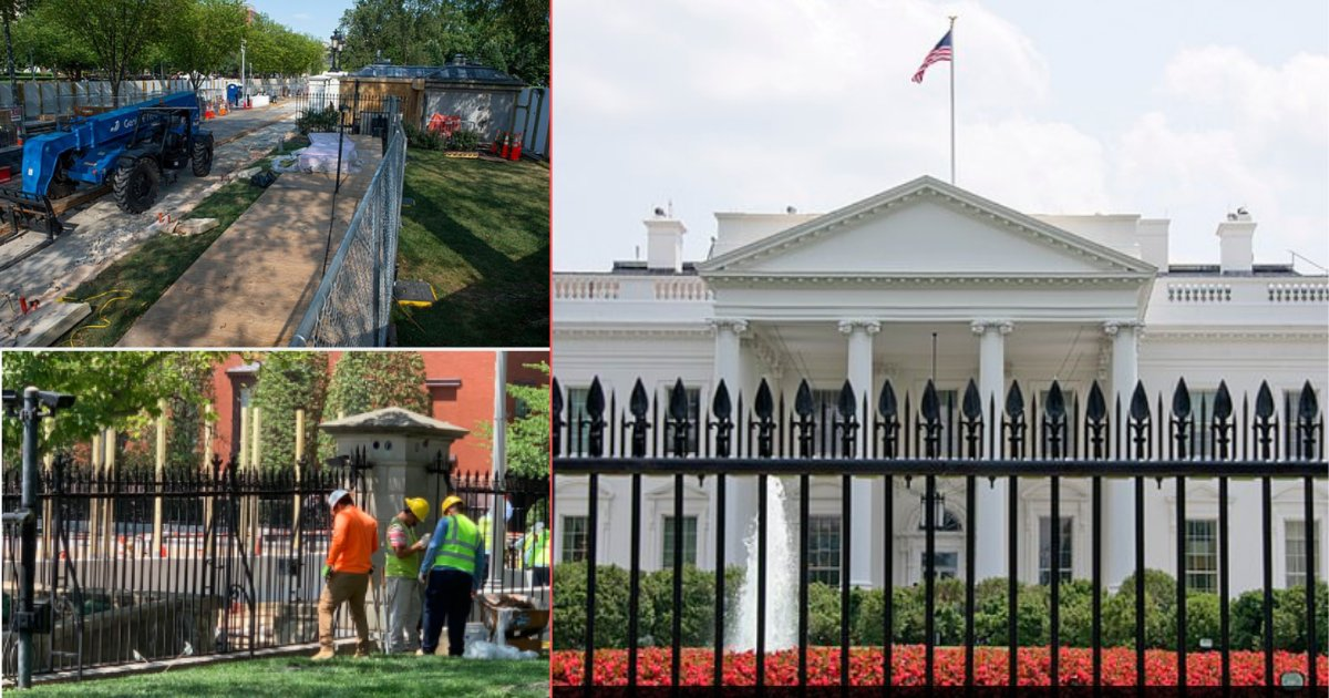 21y6.png?resize=300,169 - Construction of $64 Million 13 Feet Fence Around The White House Began For Increased Security