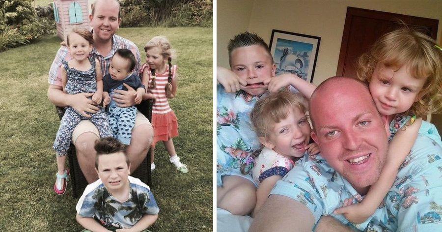 """a1 19.jpg?resize=412,232 - Ele ganhou o título de """"super pai"""" após adotar quatro crianças com deficiência"""