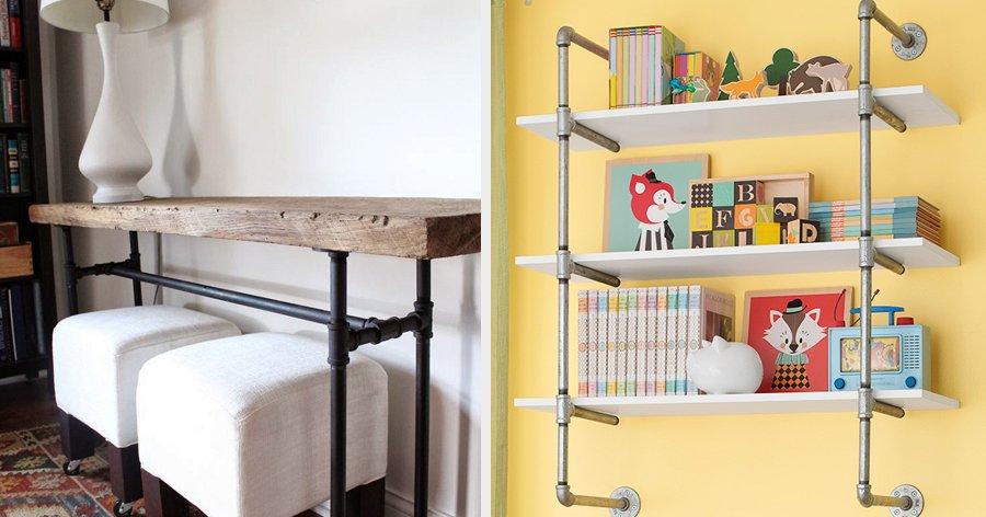a2 19.jpg?resize=1200,630 - 19 Ideias geniais para decorar e mobiliar sua casa utilizando tubos de metal