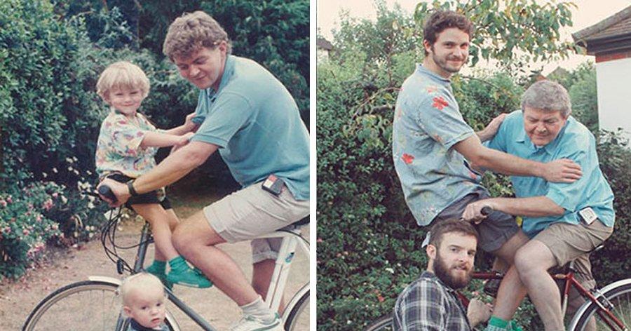 a2 6.jpg?resize=412,275 - Irmãos recriam fotos hilárias de quando eram pequenos
