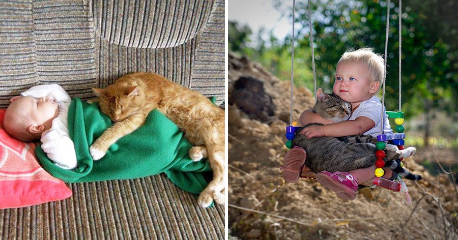 a4 15.jpg?resize=1200,630 - 20 Fotos adoráveis provando que toda criança precisa de um gato