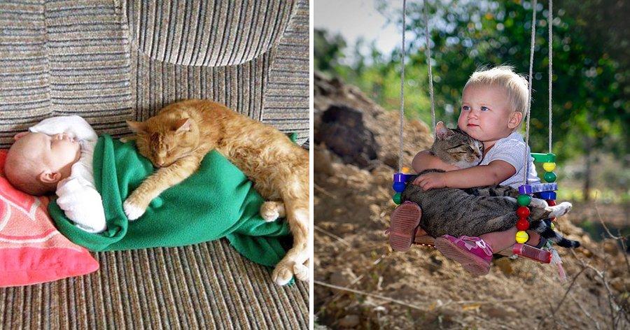 a4 15.jpg?resize=412,275 - 20 Fotos adoráveis provando que toda criança precisa de um gato