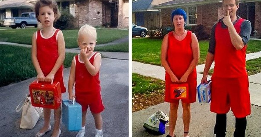 a4 19.jpg?resize=412,232 - 16 Famílias que resolveram atualizar suas fotos antigas de uma forma hilária