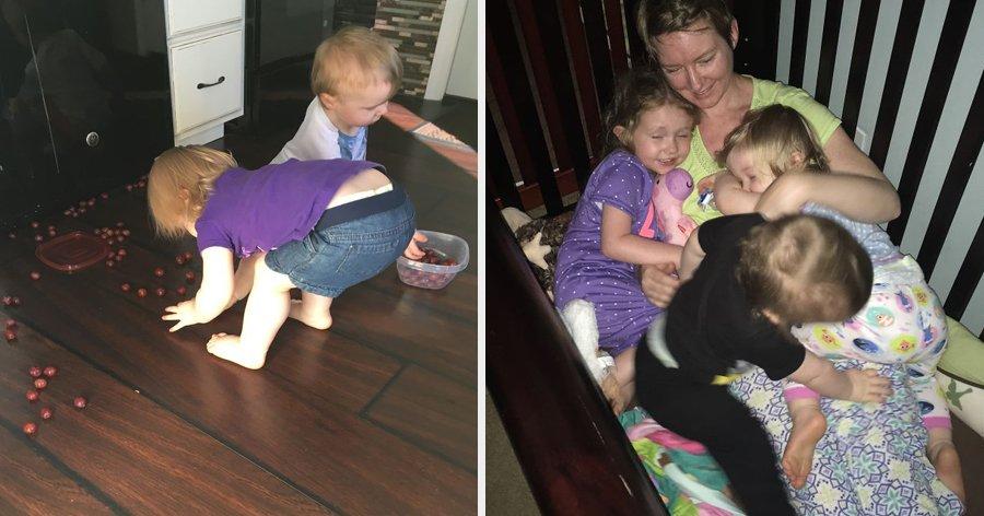 a6 17.jpg?resize=412,232 - Essa mãe está chamando a atenção de todos com as fotos dela cuidando dos 3 filhos