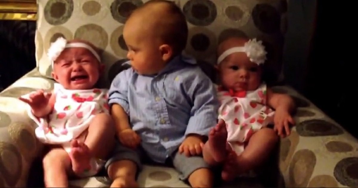 b3 6.jpg?resize=412,232 - Confused Look On The Baby Boy's Face Said It All When He Was Put Between Twin Baby Girls