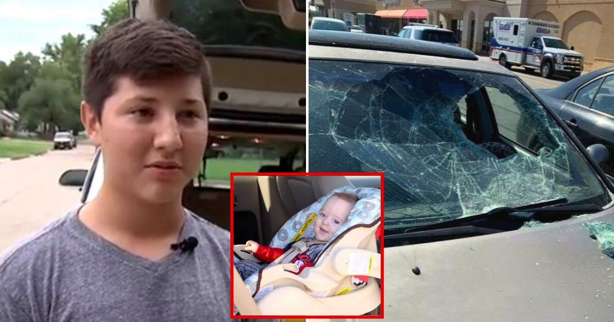ben5.png?resize=300,169 - Un garçon de 12 ans a brisé le pare-brise d'une voiture pour sauver le bambin qui était pris à l'intérieur dans une forte chaleur