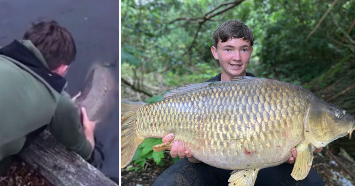biggest fish.jpg?resize=1200,630 - 15-Year-Old Caught A 25lb Fish - The Biggest Caught In The City River Since 1856
