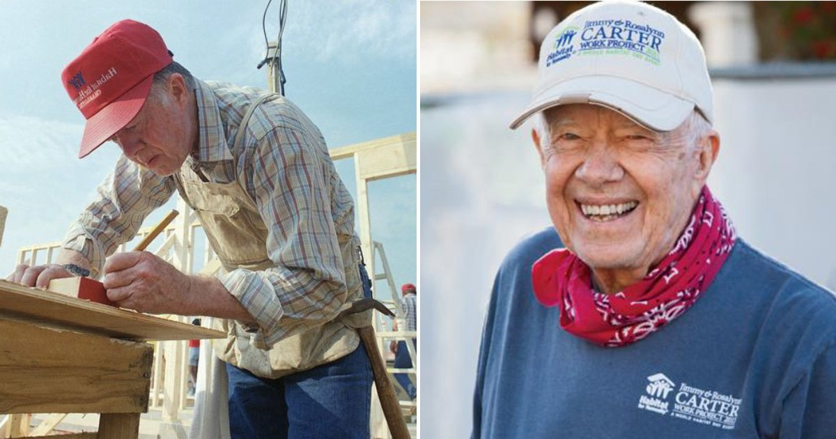 carter5.png?resize=412,232 - Jimmy Carter, 94 Is Back To Building Houses For The Homeless Only Months After Hip Surgery
