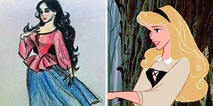 concept art sketches original compared disney characters 7 5c9893425a6d3  700 e1564817953410.jpg?resize=412,232 - 25 Original Sketches Of Disney Characters