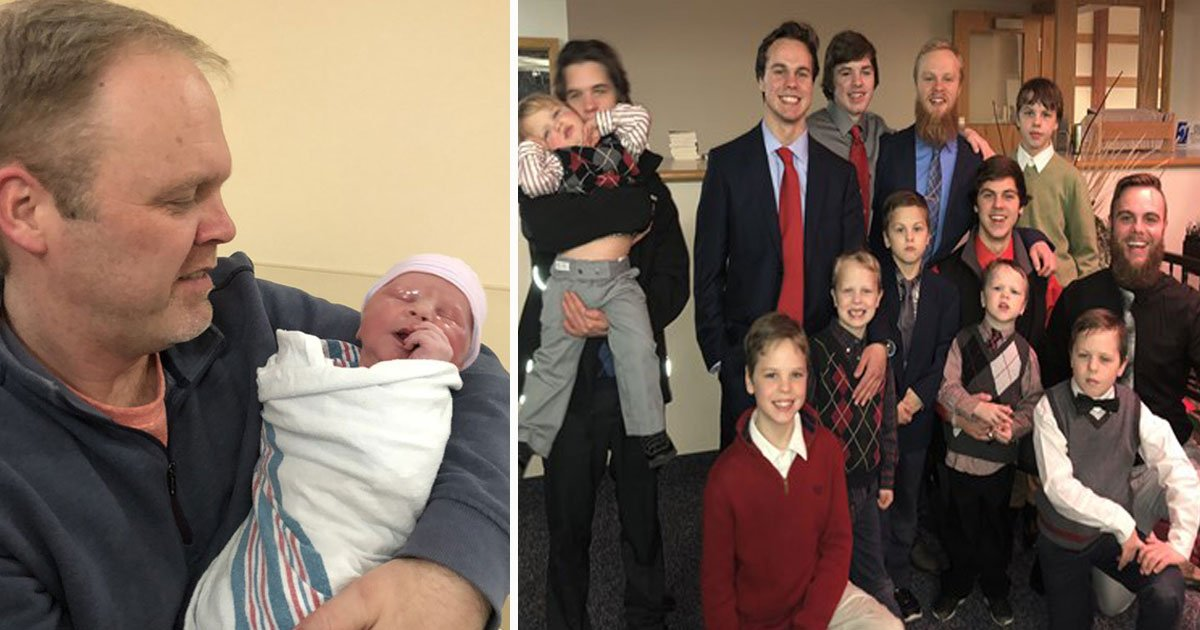couple welcomes 14th son.jpg?resize=1200,630 - A Couple From Michigan Welcomed Their 14th Child And The Baby Was A Boy Again