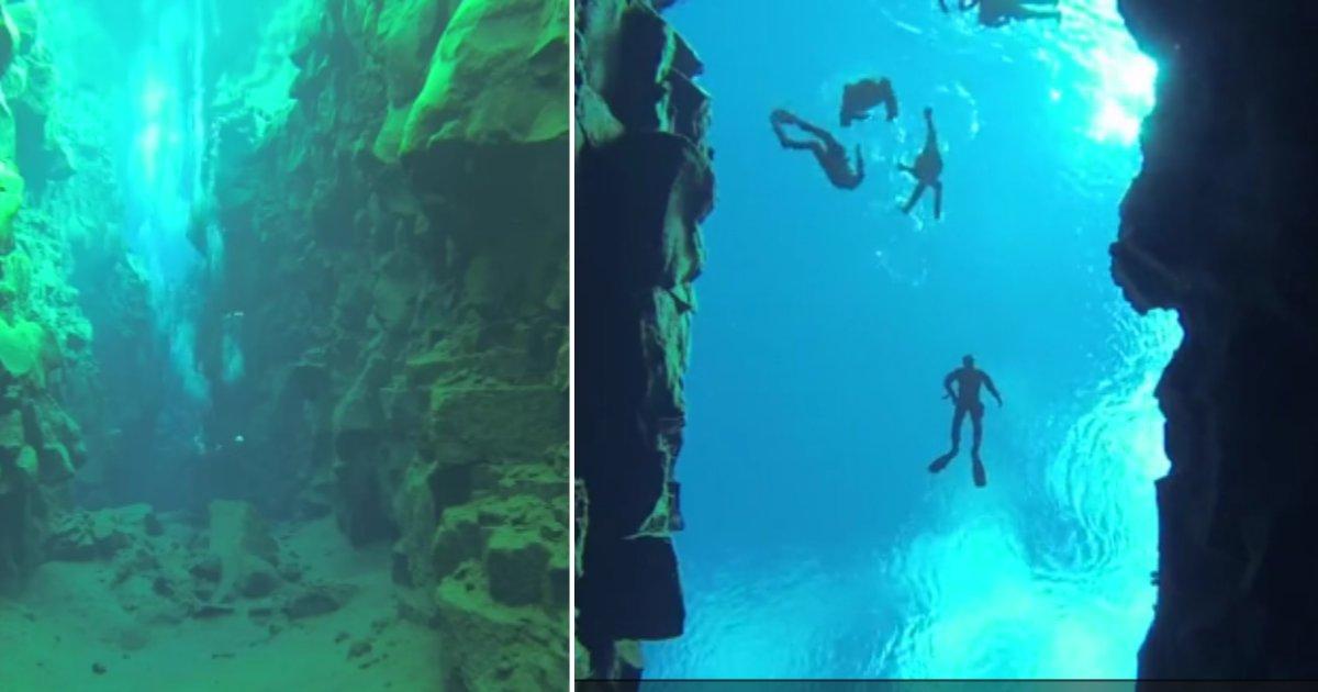 d 6 4.png?resize=300,169 - Des plongeurs ont été capables de filmer et partager des images de ces eaux cristallines situées entre deux continents