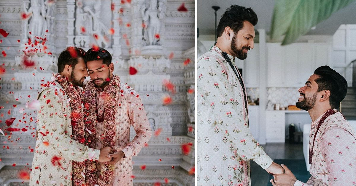 dfsf.jpg?resize=1200,630 - This Indian Gay Couple Broke all Stereotypes By Holding a Big Traditional Wedding Ceremony In a Hindu Temple