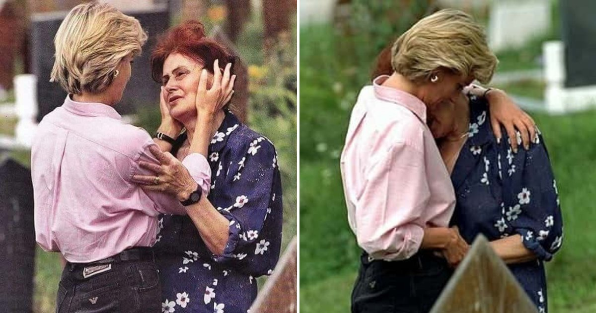 diana7.png?resize=1200,630 - Photos Of Late Princess Diana When She Stopped At Cemetery To Comfort A Woman Crying At Son's Grave