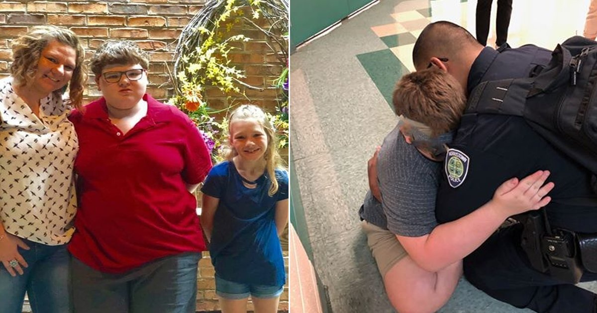 dsdfsd.jpg?resize=412,232 - Cet agent de sécurité scolaire a étreint un enfant autiste et l'a consolé lors de son premier jour d'école