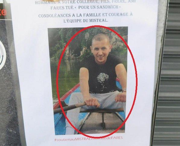 fares.jpg?resize=1200,630 - Seine-et-Marne: Un serveur de 28 ans tué par balle... pour un sandwich
