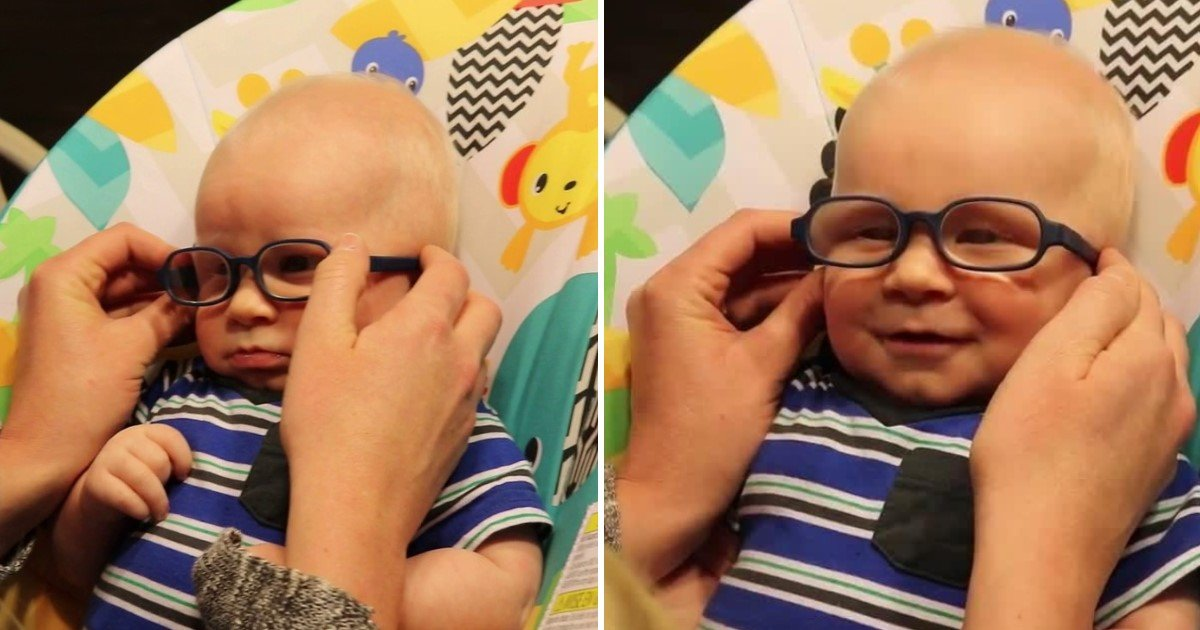 featured image 10.jpg?resize=1200,630 - Precious Moment Of A Baby With Rare Disorder Which Affects His Vision Seeing His Mom For The First Time