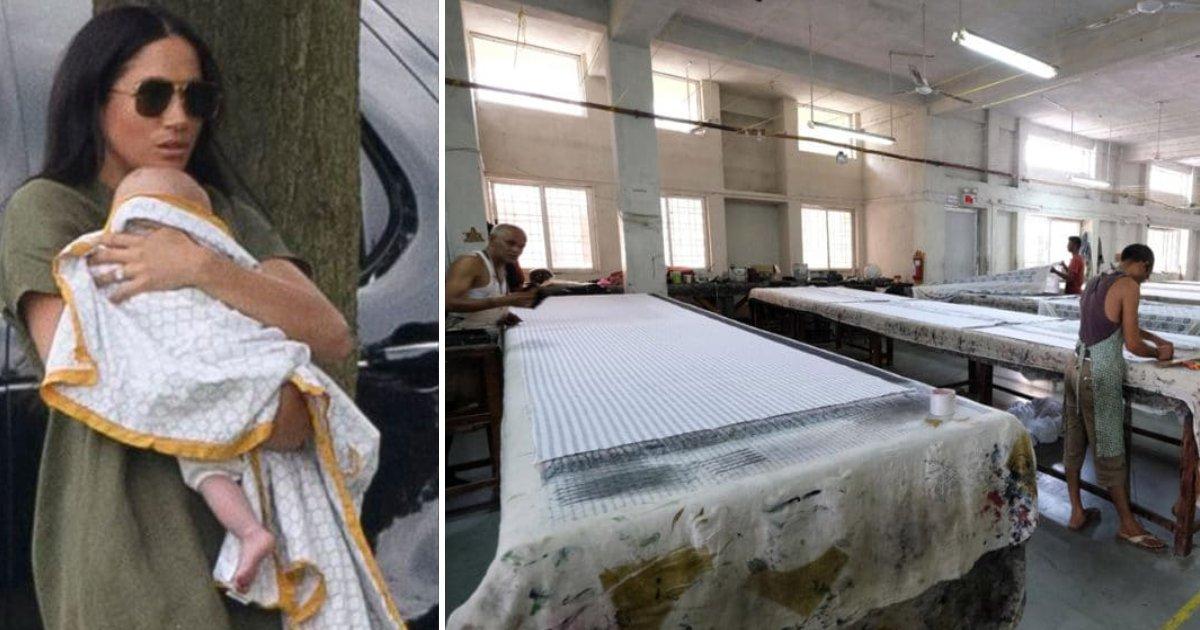 featured image 3.png?resize=412,232 - Le châle pour bébé que Meghan a utilisé, a été fabriqué dans une usine où les ouvriers gagnent seulement 40 centimes par heure